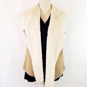 Relativity Women's Suede Faux Fur Vest